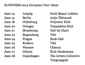 SLOWNESS2014Tour